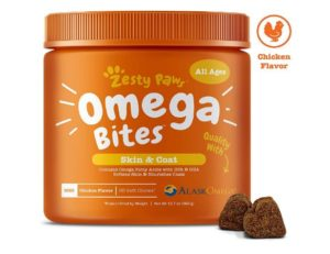 Zesty Paws Omega 3 Alaskan Fish Oil Chews for Dogs